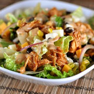 BBQ Chicken Salad with Creamy BBQ Cilantro Lime Dressing.