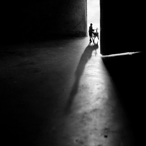 Going Out by Budi Cc-line - Digital Art Things ( fine art, bw, door, light )