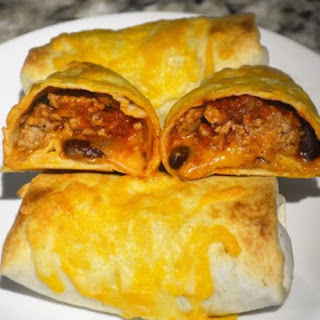 Pork and Bean Burritos.