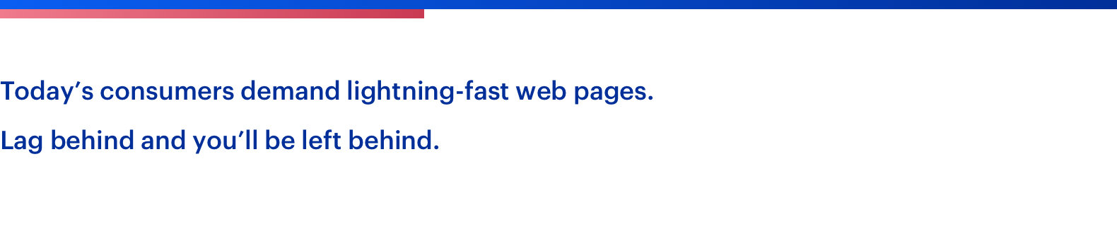 lightning fast web pages