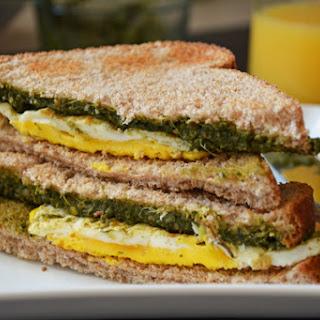 Coriander Bread Sandwich-a Healthy Breakfast.