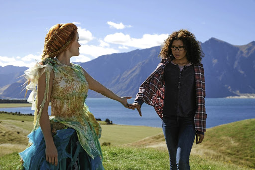 Reese Witherspoon as Mrs Which and Storm Reid as Meg in 'A Wrinkle in Time', a lacklustre fantasy film.