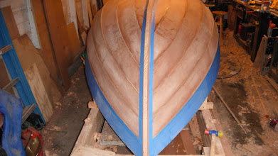 "Photo: Masking off in preparation for attaching the ""outbone"""
