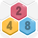 HexPop: Merge number to 2048, Free Puzzle Games icon