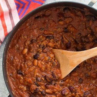 Slow Cooker Three Bean Beef Chili Recipe