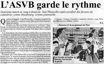 Photo: 09-11-96 N2F L'ASVB reçoit Strasbourg