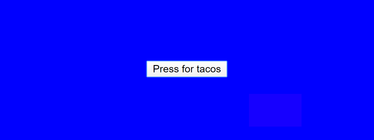 A button on a blue background. The focus indicator on the button is not discernible.