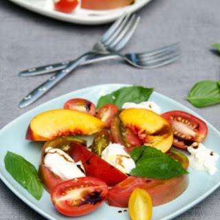 Tomato Nectarine Burrata Salad.
