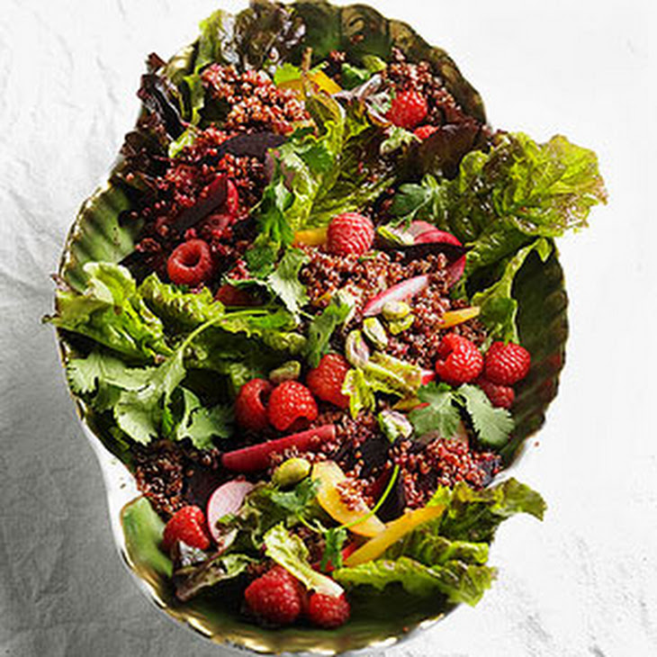 Red Quinoa Salad with Raspberries and Beets Recipe