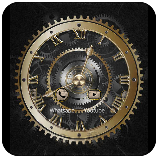 Download Gold Clock Theme Luxury Gold Google Play