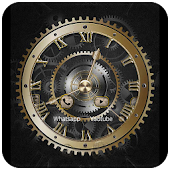 Clock Theme Luxury Gold