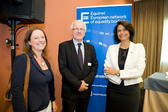 Photo: From left to right: Anne Gaspard (Equinet Executive Director), Jozef De Witte (Chair of the Equinet Board and Director of the Belgian Centre for Equal Opportunities and Opposition to Racism) and Teresa Morais (Secretary of State for Parliamentary Affairs and Equality of Portugal)  Equinet's Gender Equality Training Event on Equal Pay (18-19 September - Lisbon, Portugal)  http://goo.gl/GiAWK5  © Equinet 2013
