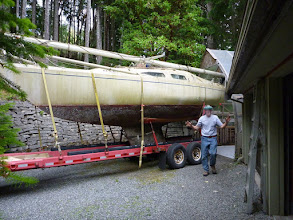 Photo: Oh Oh ... too big for the boat shed.