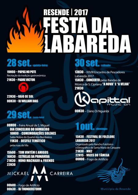 Programa da Festa da Labareda – Resende – 2017