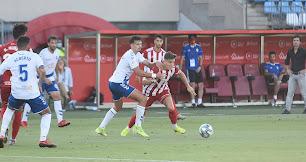 José Corpas en el partido contra el Tenerife la pasada temporada.