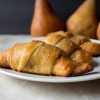 Walnut and Pear Crescent Rolls