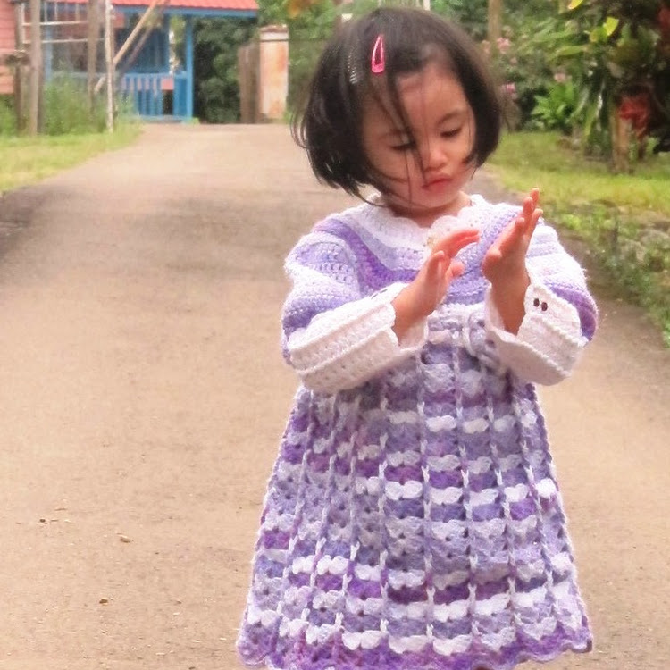 Crochet Raihan's Baby Dress (long Sleeve) by Crochet Heart