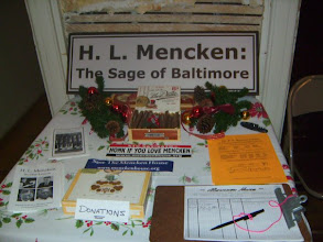 Photo: H. L. Mencken Home interior during Union Square Cookie Tour (Facebook gallery)