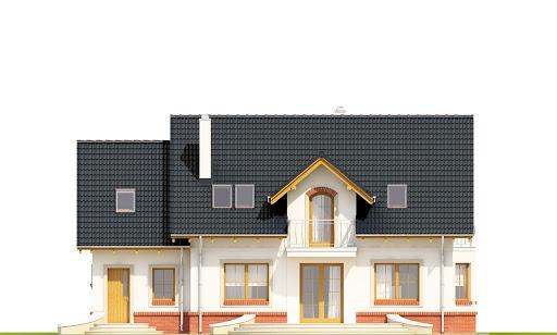 Dom Dla Ciebie 1 w4 z garażem 1-st. A - Elewacja tylna