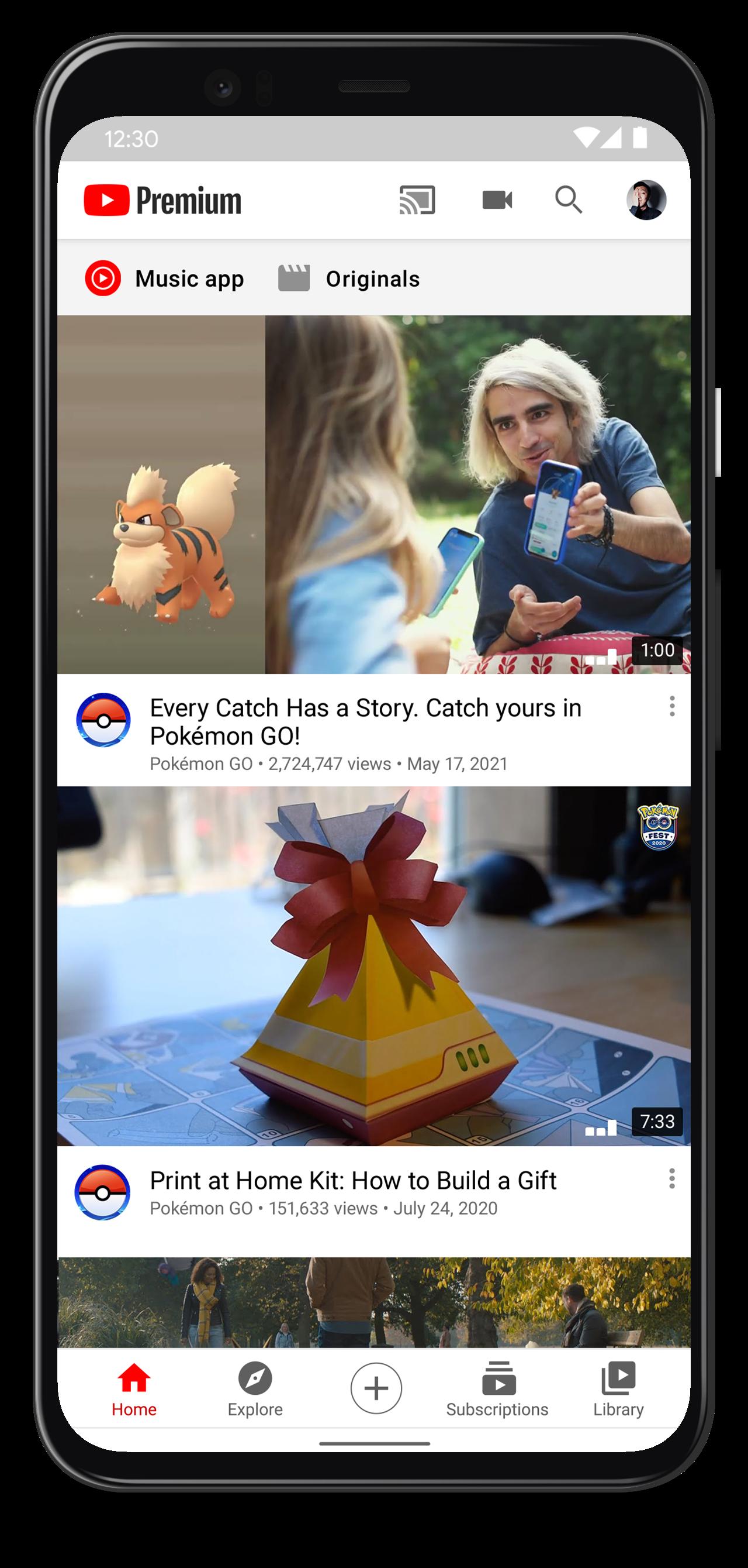 pokémon go youtube premium de graça