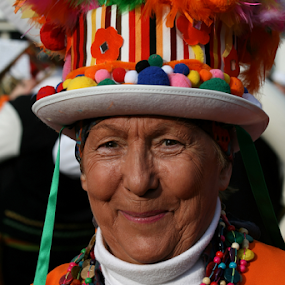 Carnival by Dominic Jacob - People Portraits of Women ( orange, america, carnival, woman, south, hat,  )