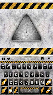 Download Metal Warning Line Keyboard Theme For PC Windows and Mac apk screenshot 5