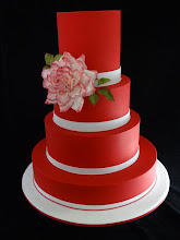 Photo: Red and White wedding by Cakeage Cake Craft (9/2/2012) View cake details here: http://cakesdecor.com/cakes/27248