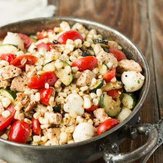 Grilled Greek Chicken and Corn Salad