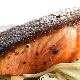 Pan-Roasted Salmon with Fennel Salad.