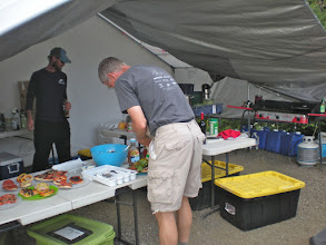Photo: Photo by Jeff Nelson: Dinner Friday evening at the Mt. St. Helens Institute's Field Camp. The institute provided dinner Friday, breakfast and dinner on Saturday, and breakfast on Sunday.