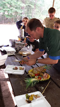 Photo: Assembling plates for the judges
