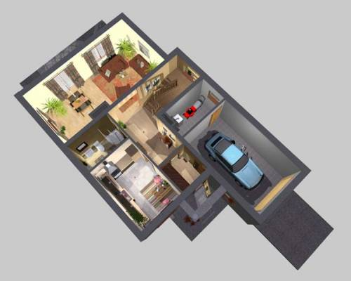 APS 173 - Rzut parteru 3D