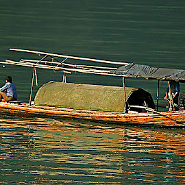 Bamboo boat by Wilson Beckett - Transportation Boats
