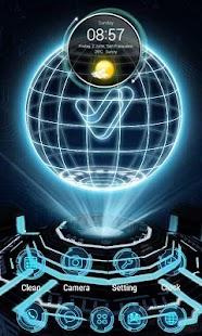 Next Tech 3D V Launcher Theme - náhled