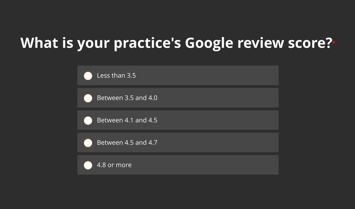 What is your practice's Google review score?
