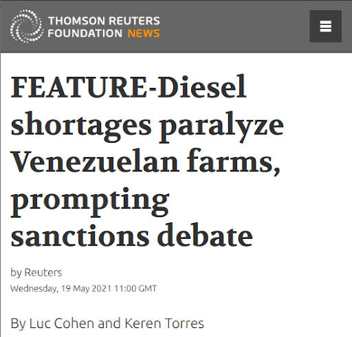 US Sanctions Against Venezuela Cause Shortages in Diesel, Editorial Standards