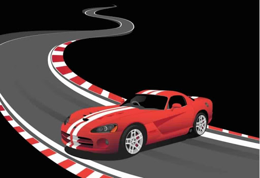 Cars Racing - highway traffic