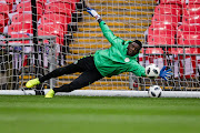Daniel Akpeyi of Nigeria during the Nigeria Training at the Wembley Stadium on June 1, 2018 in London United Kingdom.