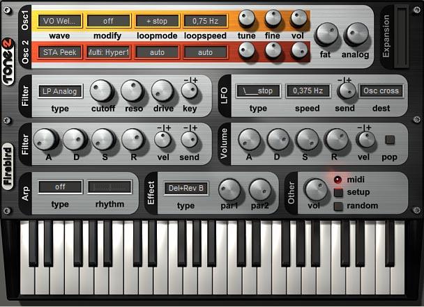 Photo: Firebird+ synthesizer
