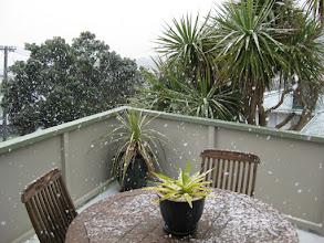 Photo: Snow settling in Strathmore, Wellington, 11:45am 15 Aug 2011