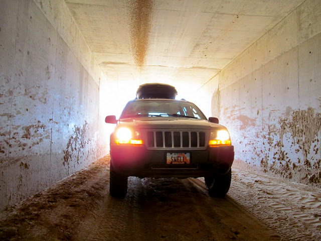 Swell Jeep under I-70