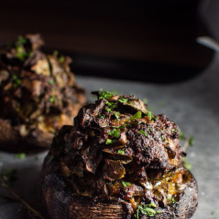 Sausage and Swiss Chard Stuffed Portobello Mushrooms