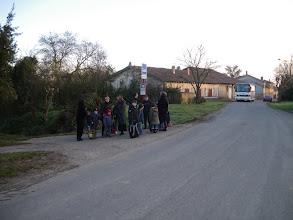 Photo: 5 février 2009 - Attente du bus scolaire