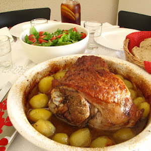 Roast Turkey Leg With Rosemary and Potatoes