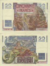 Photo: Urbain Jean Joseph Le Verrier, 50 French Francs (1947) . This note is now obsolete.