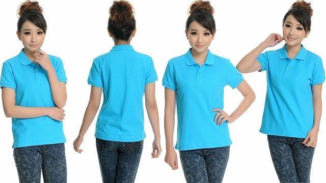 mẫu áo thun đồng phục giá rẻ màu xanh thiên thanh