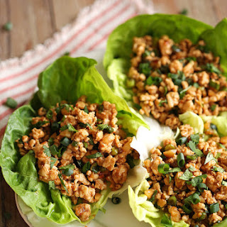 Asian Turkey Lettuce Wraps.