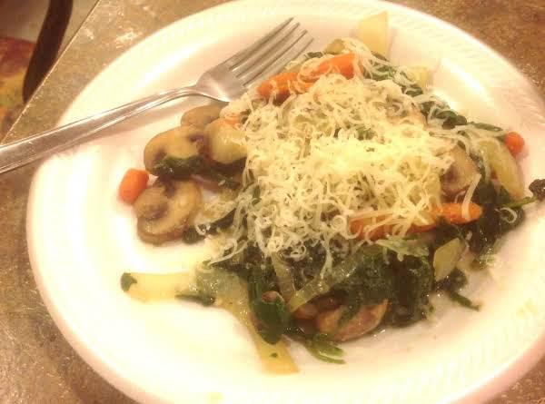 Spinach & Mushroom Saute' Recipe