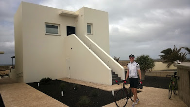 Photo: Our suite and Jens on his way to the next cycle training.