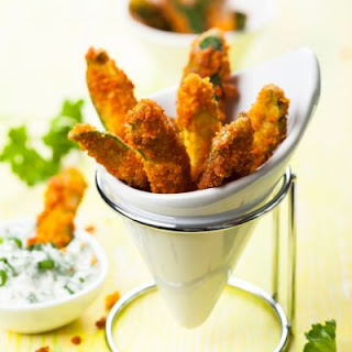 Breaded Oven Baked Zucchini Fries